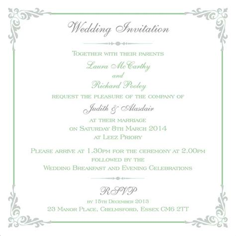 how to list names on wedding invitations brambles wedding stationery printed names