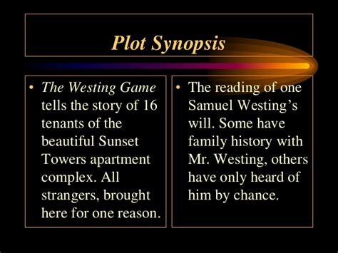 Novel The Westing the westing book report