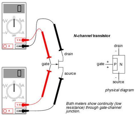 horizontal output transistor testing meter check of a transistor