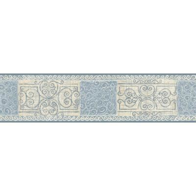 bathroom wallpaper borders home depot the wallpaper company 8 in x 10 in blue pastel scroll tile border sle wc1282920s the home