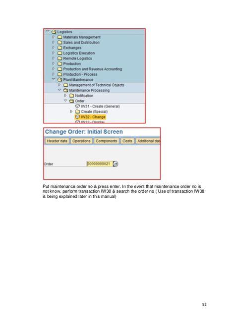 sap tutorial manual sap pm training manual www sapdocs info