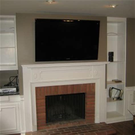 fireplace best fireplace mantel design by mounting tv
