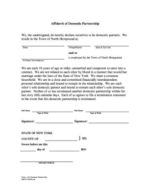 affidavit of domestic partnership form declaration of domestic partnership fill