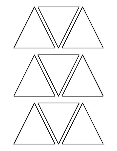 triangle pattern to trace 3 inch triangle pattern use the printable outline for