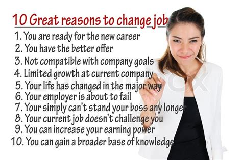 7 Reasons To Make A Career Change by Reason To Change For Human Resources Concept Stock