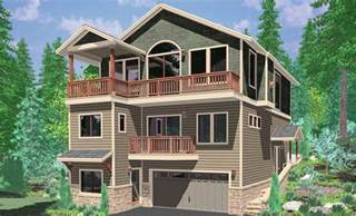 floor plans for sloped lots hillside home plans with basement sloping lot house plans