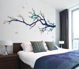 Home Decor Fabric Australia cherry blossom branch with birds contemporary wall