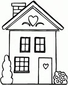House Coloring Pages 05 sketch template