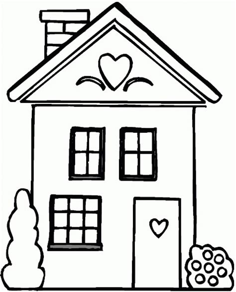 printable coloring pictures of a house house coloring pages getcoloringpages com