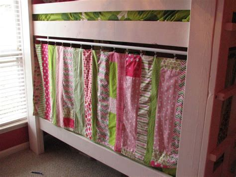 loft bed curtain bunk bed privacy and nice idea for simple bookshelf and lighting inside the bunk