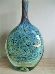 jean claude novaro grand vase bouteille aplatie inclusion