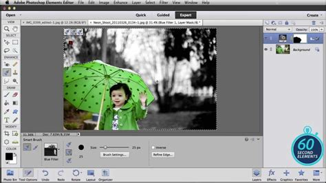 add color to black and white photo adobe photoshop elements add splashes of color in black
