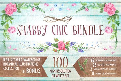 Shabby Chic Bundle Bonus Illustrations On Creative Market Chic Website Templates