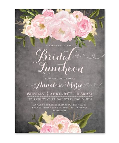 invitations for bridal shower luncheon best 25 bridal luncheon invitations ideas on