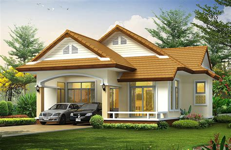 beautiful bungalow house home plans and designs with photos บ านสวยด ไซน ร วมสม ย 3 ห องนอน 3 ห องน ำ ในร ปแบบท เข า