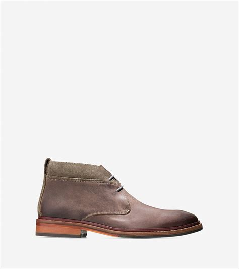 cole haan mens chukka boots cole haan brown williams leather chukka boots for lyst