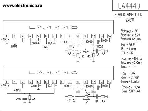 Ic La 4440 Integrated Circuit La4440 la4440 6w power audio lifier schematic