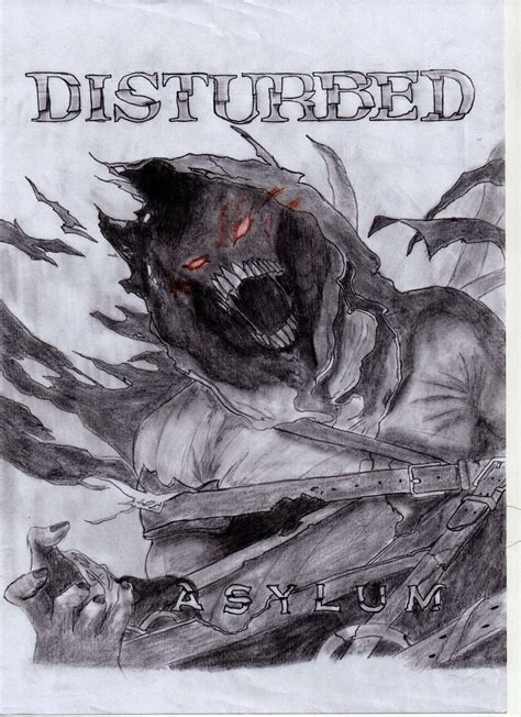 album artwork sketch asylum disturbed by restoric on deviantart