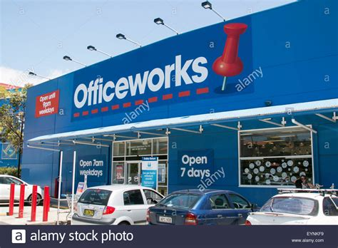 officeworks stationery store exterior new south wales australia stock photo royalty free image
