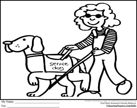 coloring pages of guide dogs guide coloring page coloring pages of service dogs