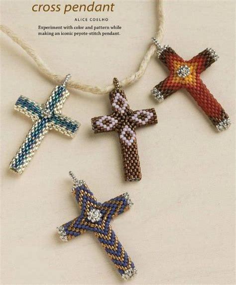 beaded cross pendant diagram beading crosses eggs
