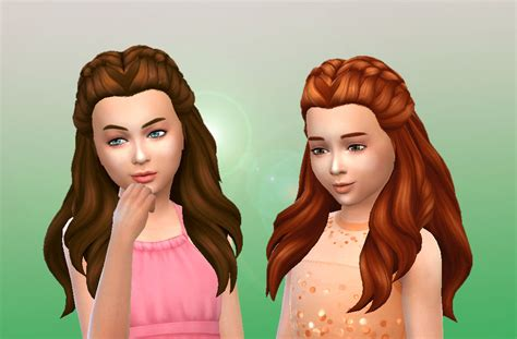 sims 4 cc kids hair lana cc finds creative braids for girls by kiara24 ts4
