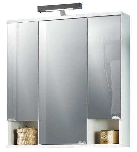 spiegelschrank nische spiegelschrank in wei 223 perl mit 3 t 252 ren 2 nischen und