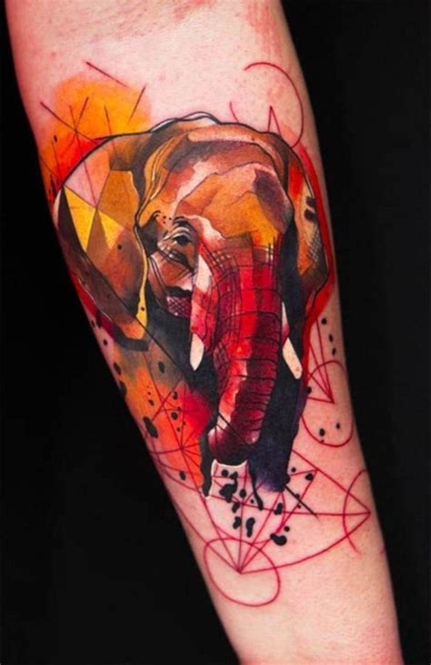Tattoo Elephant Geometric | elephant geometric tattoos meaning tattoo pinterest