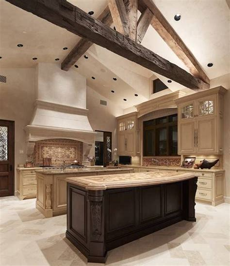 double kitchen island style tuscan kitchen design ideas with double islands