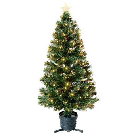 4ft 120cm beautiful green fibre optic christmas tree with