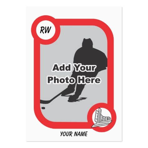 hockey player card template retro hockey card pack of business cards zazzle