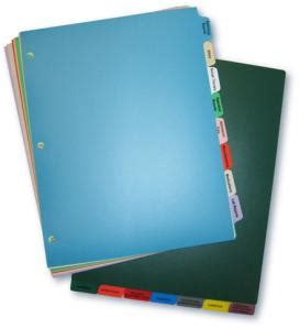 Decorative Tab Dividers by Custom Poly Tab Divider Sets Charts Carts Patient