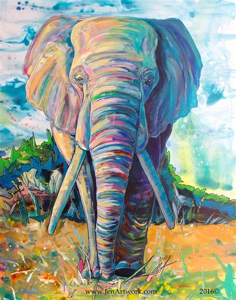 25 best ideas about elephant paintings on elephant colorful elephant and