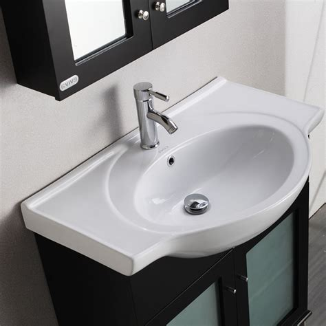 integrated bathroom sink eviva tux 174 36 quot espresso transitional bathroom vanity with