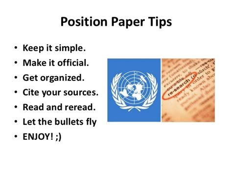 How To Make Position Paper - position paper