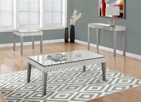 brushed silver table brushed silver occasional table set 3720 monarch