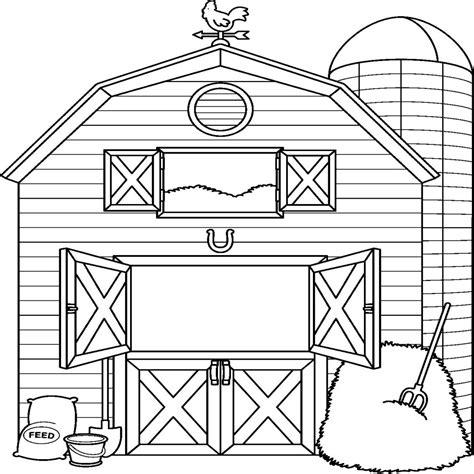 imagenes de animales de granja para colorear dibujos para colorear de una granja de animales