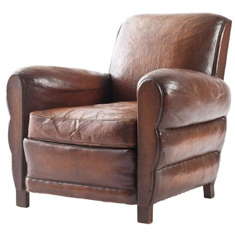 armchair club french leather club chair at 1stdibs
