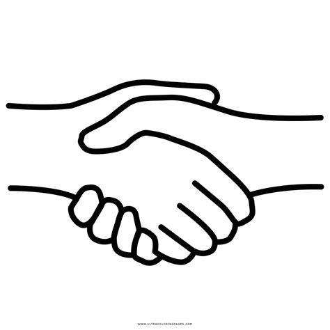 coloring page shaking hands stretta di mano disegni da colorare ultra coloring pages
