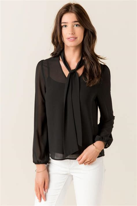 Murah Himbow Blouse rayna chiffon bow blouse s