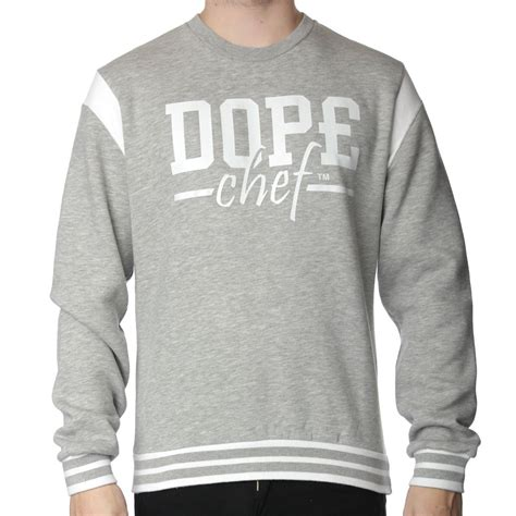 Sweater Chef dope chef varsity sweater jumpers tops from the menswear site uk