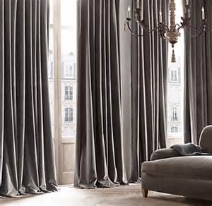 Taupe Sheer Curtains Vintage Velvet Drapery