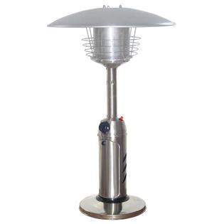 hiland outdoor patio heater hiland 38 quot stainless steel outdoor tabletop patio heater