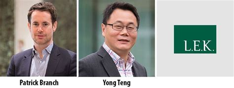 Lek Consulting For Non Mba Masters by L E K Consulting Asia Promotes Branch And Yong