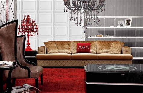 a x ax003 transitional velvet fabric sofa set