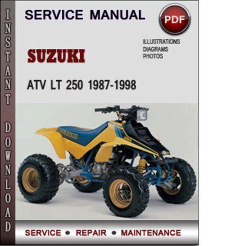small engine repair manuals free download 1990 suzuki sidekick head up display suzuki atv lt 250 1987 1998 factory service repair manual download