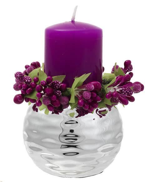 candele viola portacandela argento sfera nonsolocerimonie it