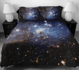 galaxy bedding set two sides printing galaxy by tbedding