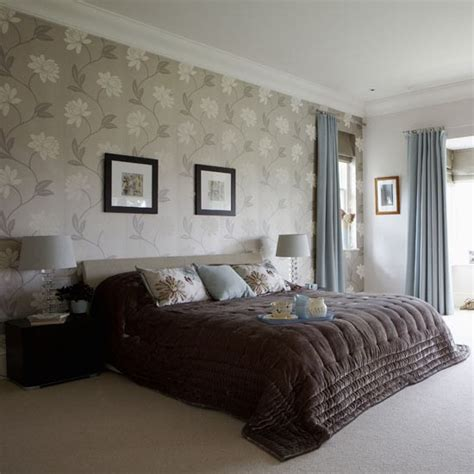 modern bedroom wallpaper modern bedroom with velvet throw design ideas