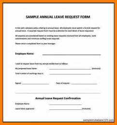leave template 6 annual leave forms template science resume